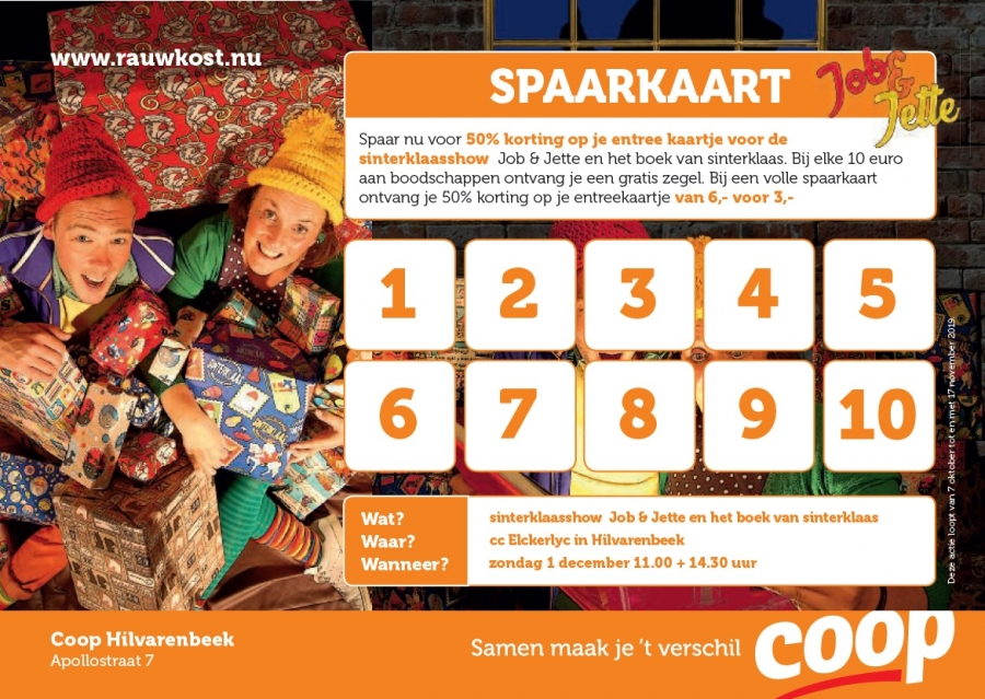 Voorbeeld Spaarkaart COOP
